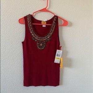 Ruby Rd. Maroon blouse ❤️